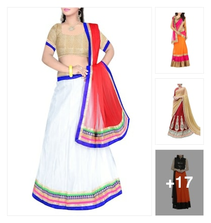 Lehengas for you. Online shopping look by Bhavisyareddy
