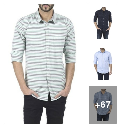 trendy shirts. Online shopping look by anitha