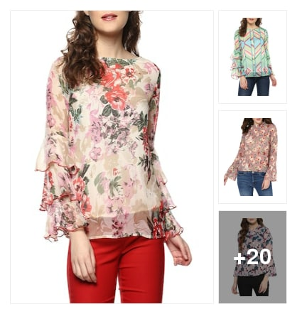 Floral tops. Online shopping look by nandan
