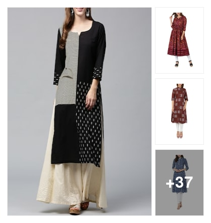 Cotton Kurtas For Summer. Online shopping look by susmitha