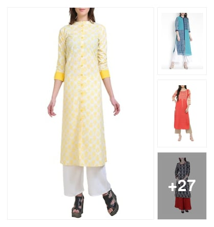 kurta&palazzo. Online shopping look by Shruti
