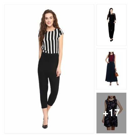 Jumpsuits for beautiful ladies. Online shopping look by raj