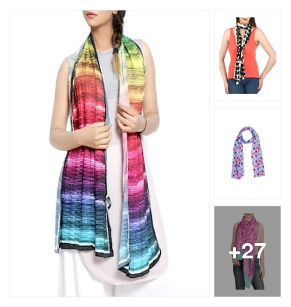 Scarves collection . Online shopping look by kumar