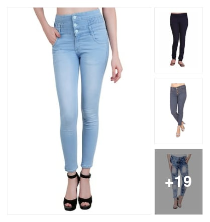 Good-looking jeans & jeggings for Girls. Online shopping look by SHYAMALA