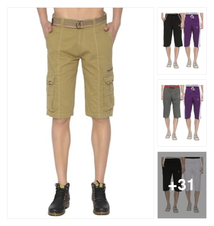 Shorts for men. Online shopping look by kavya