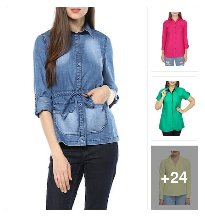 Regular  Shirts For Ladies . Online shopping look by Pragnya