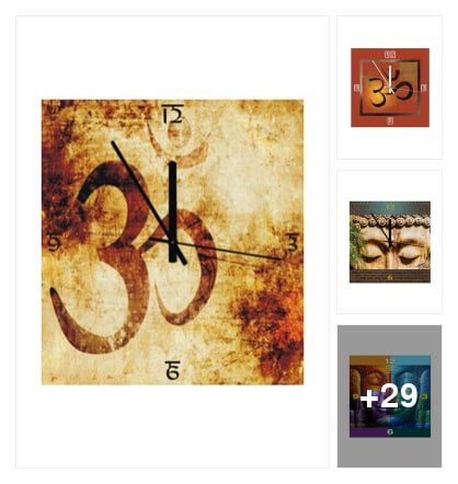 Wall Clocks With God's N Spritual Signs. Online shopping look by Sunehri