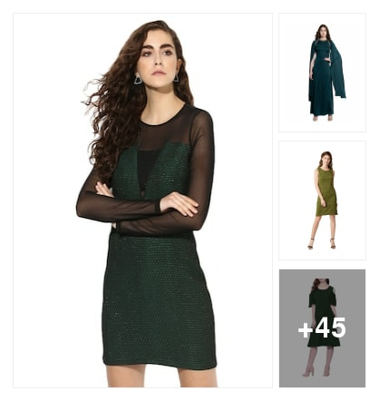 Gorgeous Green Dresses. Online shopping look by Reeshma Parameswaran
