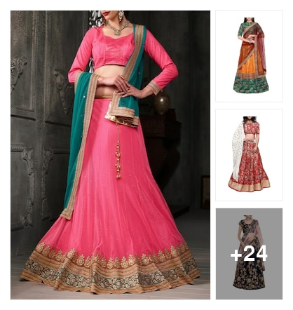 Beautiful lehengas collection. Online shopping look by ramakrishna