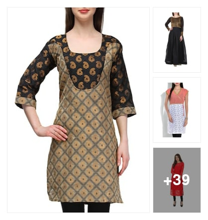 Jacquard worked kurtis for you. Online shopping look by Manisha