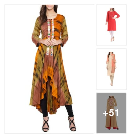 Mirror worked kurtis. Online shopping look by Manisha