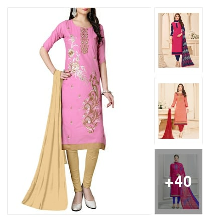 Charming dress material . Online shopping look by Geeta