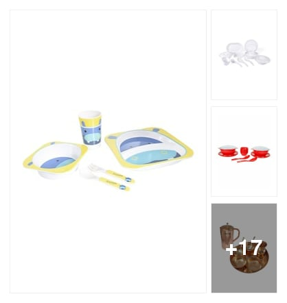 Dinner set. Online shopping look by prasad