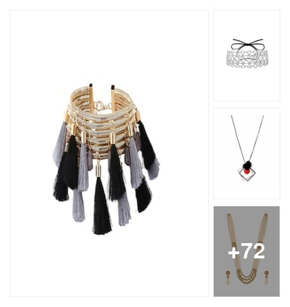 STYLISH NECKPIECES. Online shopping look by dana