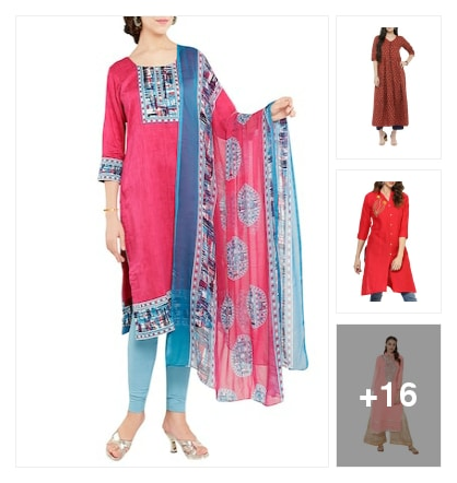 Cotton Blend Dress Material. Online shopping look by Sakshi
