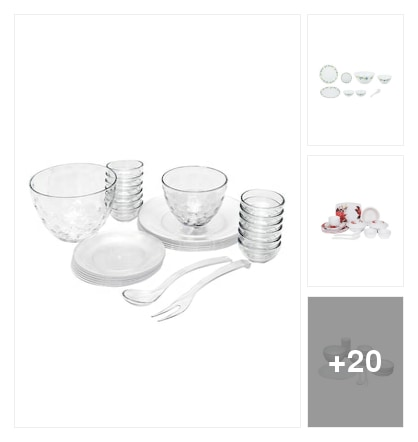 Dinner sets. Online shopping look by lahari
