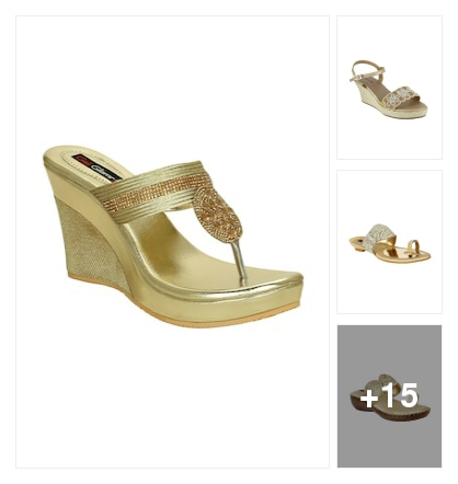 Goldish Sandal. Online shopping look by r