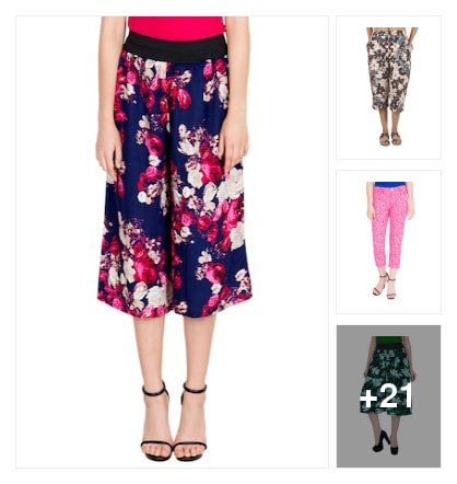 Floral design Capris. Online shopping look by max