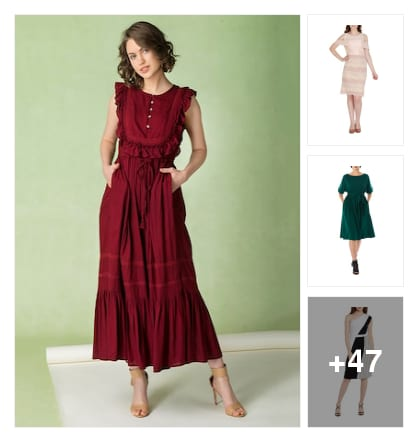 Fresh dresses to style with. Online shopping look by Priya Choudhary