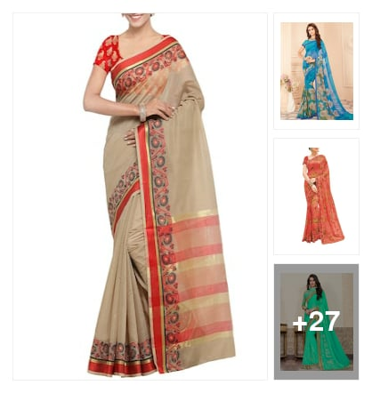 Sarees. Online shopping look by P