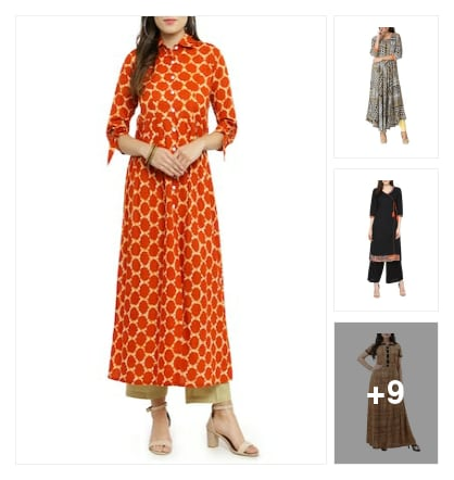 elegant kurtis. Online shopping look by sheetal