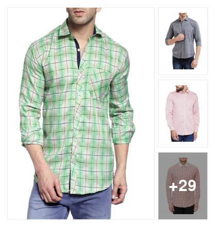 Shirts in light colors. Online shopping look by Harsha