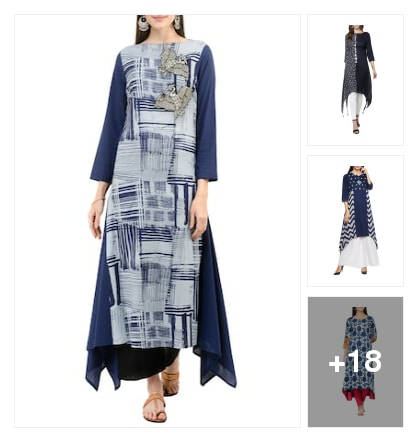 New trend kurtas. Online shopping look by Pooja