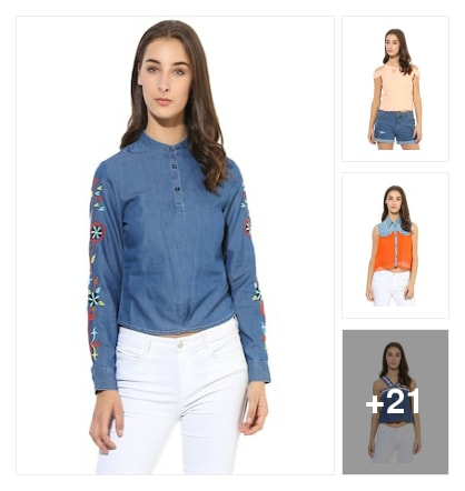 Cute Tops For Girls . Online shopping look by Pragnya