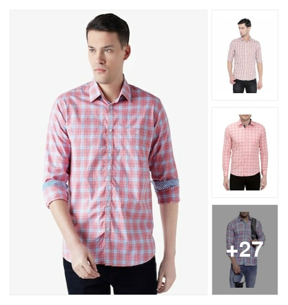 Mens shirts . Online shopping look by Rajni