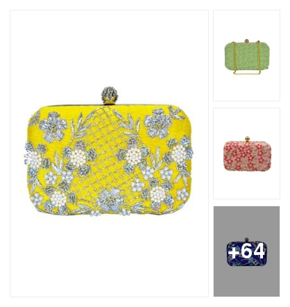 Colorful clutches for the party & functions😜👍. Online shopping look by Mahati Praveen