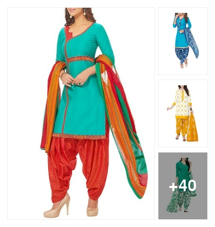 Beautiful suits for regular base. Online shopping look by Geeta