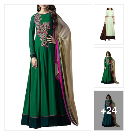 Best anarkali suit for every occasion . Online shopping look by Geeta