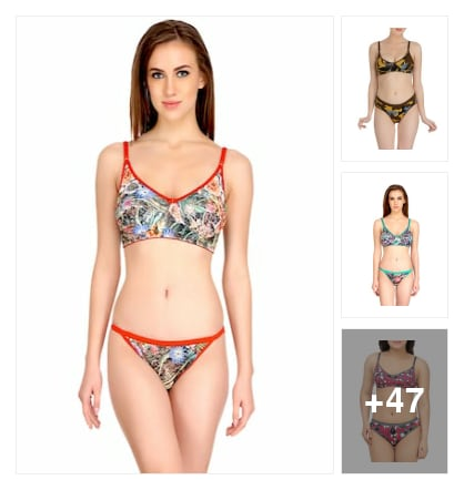 50 printed lingeries. Online shopping look by Dr.
