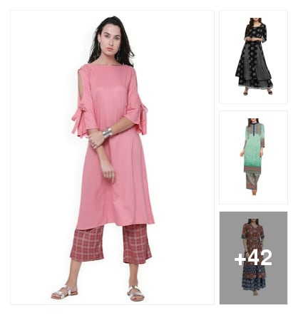 New arrival colourful  kurtasnpalazzos . Online shopping look by Reena