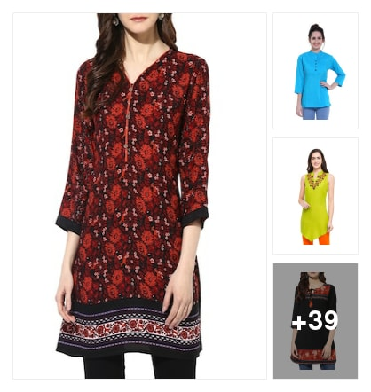 Top picks : Aren't you a fan of short kurtas that are available in every size. . Online shopping look by Pankh