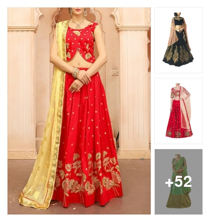 Lahenga collection. Online shopping look by Sandhya
