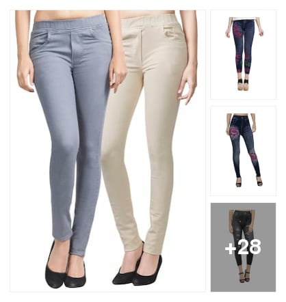 Jeans and jeggings under 499. Online shopping look by kumar