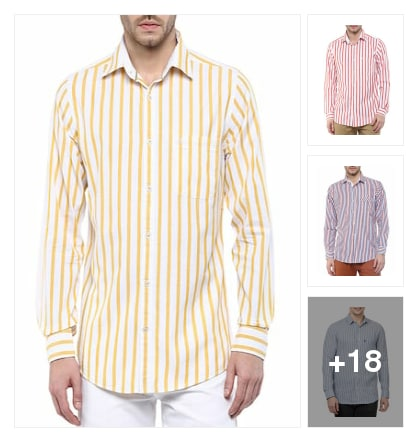 Vertical stripes shirts for style up . Online shopping look by Vijji
