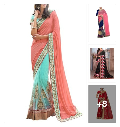 "Perfect for you saree. Online shopping look by Trends update by ""Sheetal Thakur"""