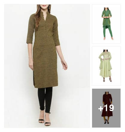 Plain kurtas. Online shopping look by muthula