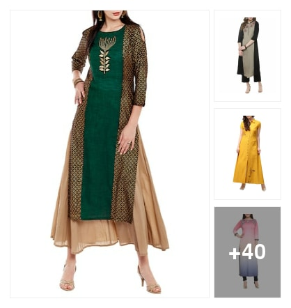 Embroidered Kurtas collection. Online shopping look by Priya Choudhary