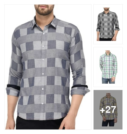 Check shirt. Online shopping look by Shreyansh
