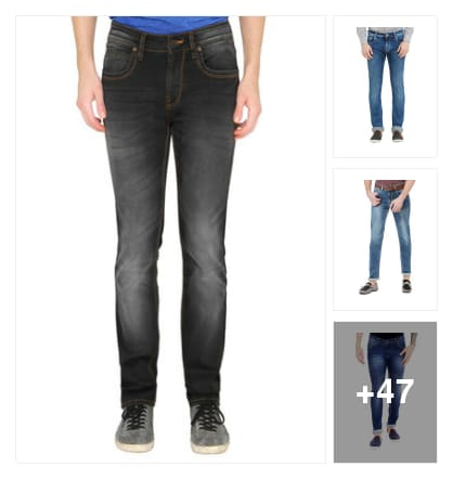 Men jeans. Online shopping look by Teju