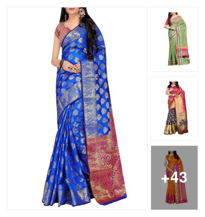 Traditional Ethnic: Banarasi Sarees. Online shopping look by Devi