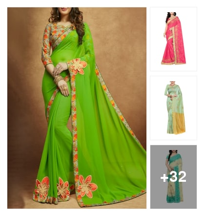 Traditional classy: Shop Embroidery Sarees. Online shopping look by Devi