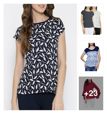 Beautiful tops for women. Online shopping look by ramakrishna