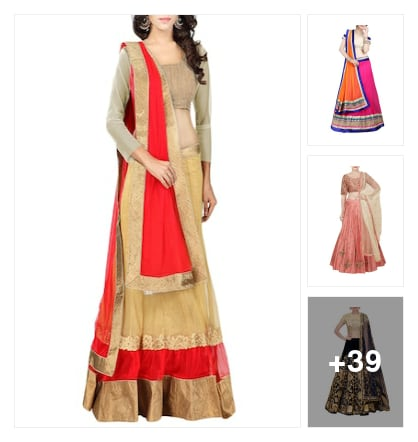 Lehengas. Online shopping look by Jai