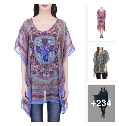 Stylish kaftans. Online shopping look by chinni