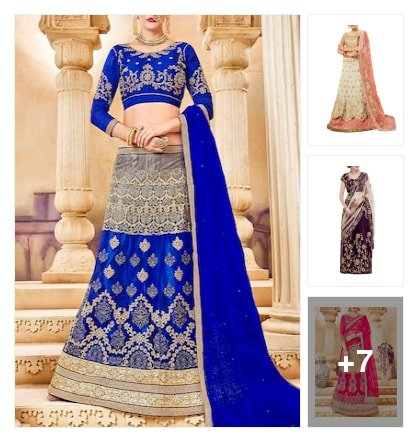 Colourful lehenga. Online shopping look by NARAYANA REDDY
