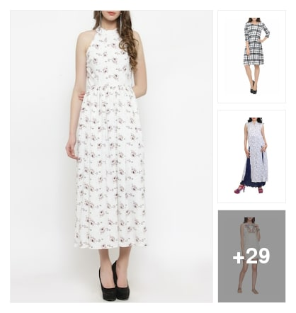 Fresh and cool white dresses to style in summer. Online shopping look by vikram